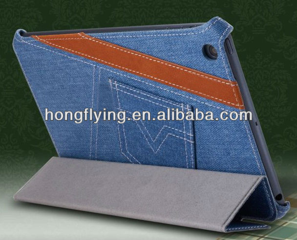 Attractive high quality Jeans carry case for ipad mini