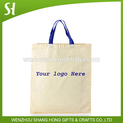 wholesale eco natural color cotton duffle shopping bag craft bag