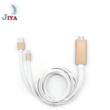 wholesale Ligh tning to HD MI Cable 2m AV TV HDTV Adapter Cable for iPad/iPhone 8 7 7pplus 6p 6s 6sp s7/s8 etc