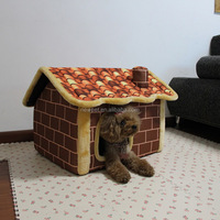 Cheap eco-friendly wholesale newest fine oxford cloth chimney bed cute custom indoor dog house