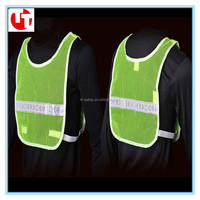 high visibility PVC mesh summer traffic motorcycle safety reflective vest