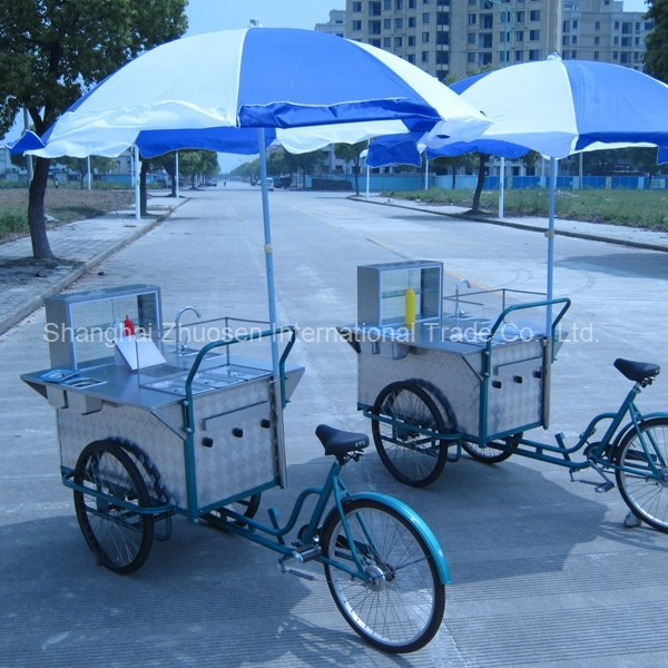 Mobile Kebab Selling Electric Factory Supply Tricycle Food Cart for Sale