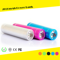 Factory price usb portable power bank 2600mah power bank with led flashlight customized capacity is welcomed