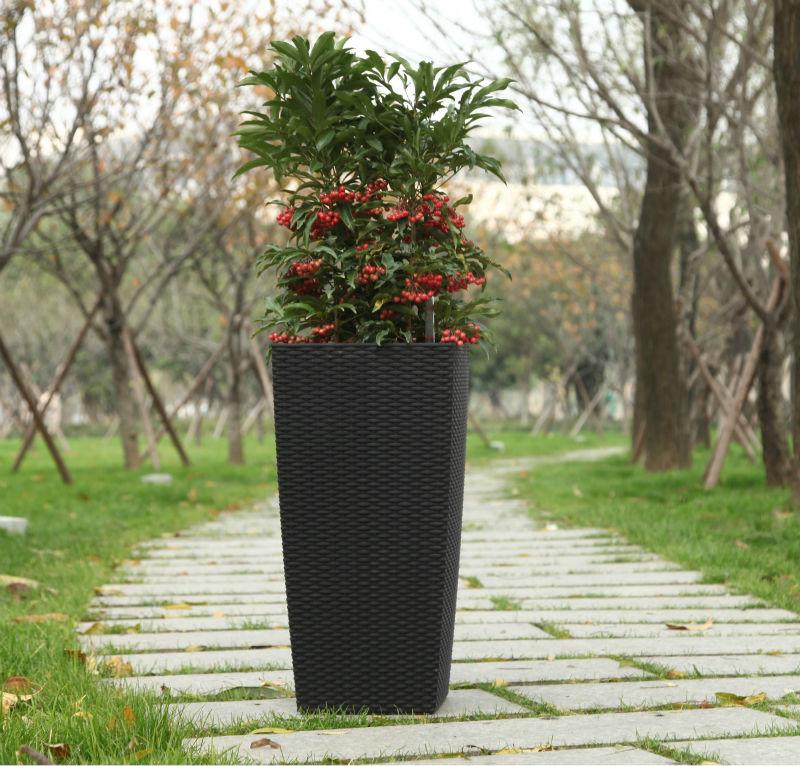 Macetas pl sticas para las plantas de viverotb04 maceteros para flores identificaci n del - Macetas en la pared ...