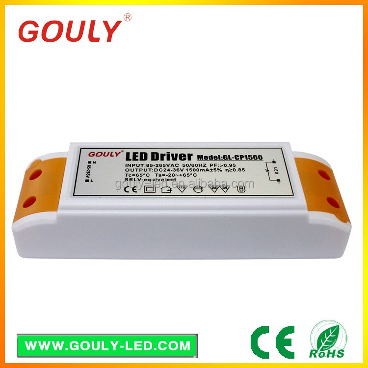 60W Single Output non-waterproof Power Supply 24-36v dimming led drivers