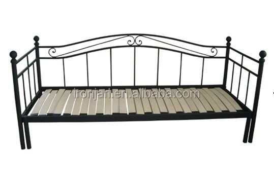 Cheap classic durable folding metal sofa bed frame buy for Cheap divan bed frames