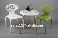 Plastic table MDF leisure black plastic table with beech wood legs TB-05