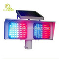 2016 hot sale red and blue solar led traffic warning light