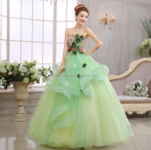 2017 New Arrival Lemon Green Ball Gown Sweetheart Vestido de Noiva Wedding Dress Bridal Women Gown Green