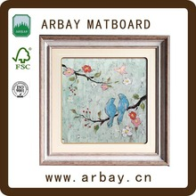Wholesale square photo frame for cross stitch coloring frame with the matboard