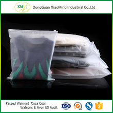 Frosted Thick Plastic Reclosable Zipper Poly Bag for Clothes Shoes