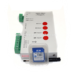 2048 pixels digital sk6812 ws2801 ws2812b ws2811 strip sd card DMX RGB led controller programmable