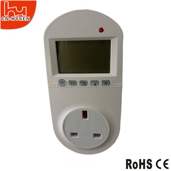 UK digital plug in thermostat with timer
