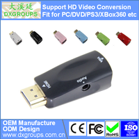 HDMI to VGA Converter Adapter with Audio ( HD Video Conversion 3D 1080P) for Laptop Projector HDTV DVD
