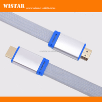 ULTRA HD metal shell HDMI 19pin white flat cable with support 4K 1.4v 216p 1080p
