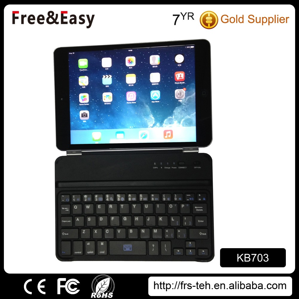 2.4g slim rechargeable usb bluetooth wireless keyboard for ipad