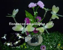 Solar fiber bouquet with dragonfly SO4201
