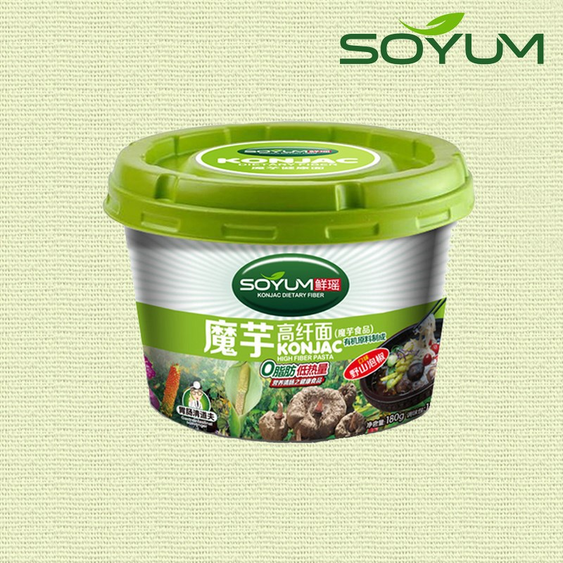 Gluten free low calories ready to eat konjac instant cup noodles