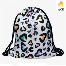 Personalized new model printing sublimated drawstring backpack with cute pattern bag for girls