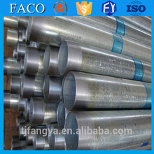 galvanized steel pipe threaded and plain head pipe sizes galvanized