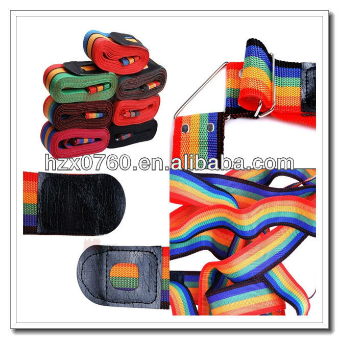 stripes luggage fasten belt