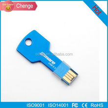 popular real capacity Key shape usb flash drive, metal key usb, promotional gift usb key pendrive 1gb~64gb