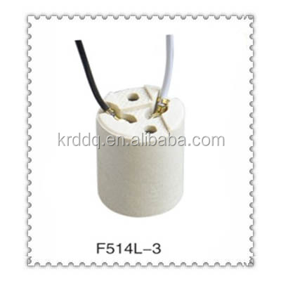 universal standard porcelain E14 lamp holder with cable