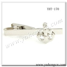 YHT-170 Novelty Best Selling Silver Anchor Tie Bar,Tie Clips