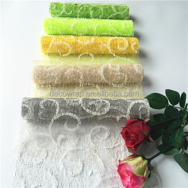 Flower Wrapping Decorative Polyester Swirl Mesh