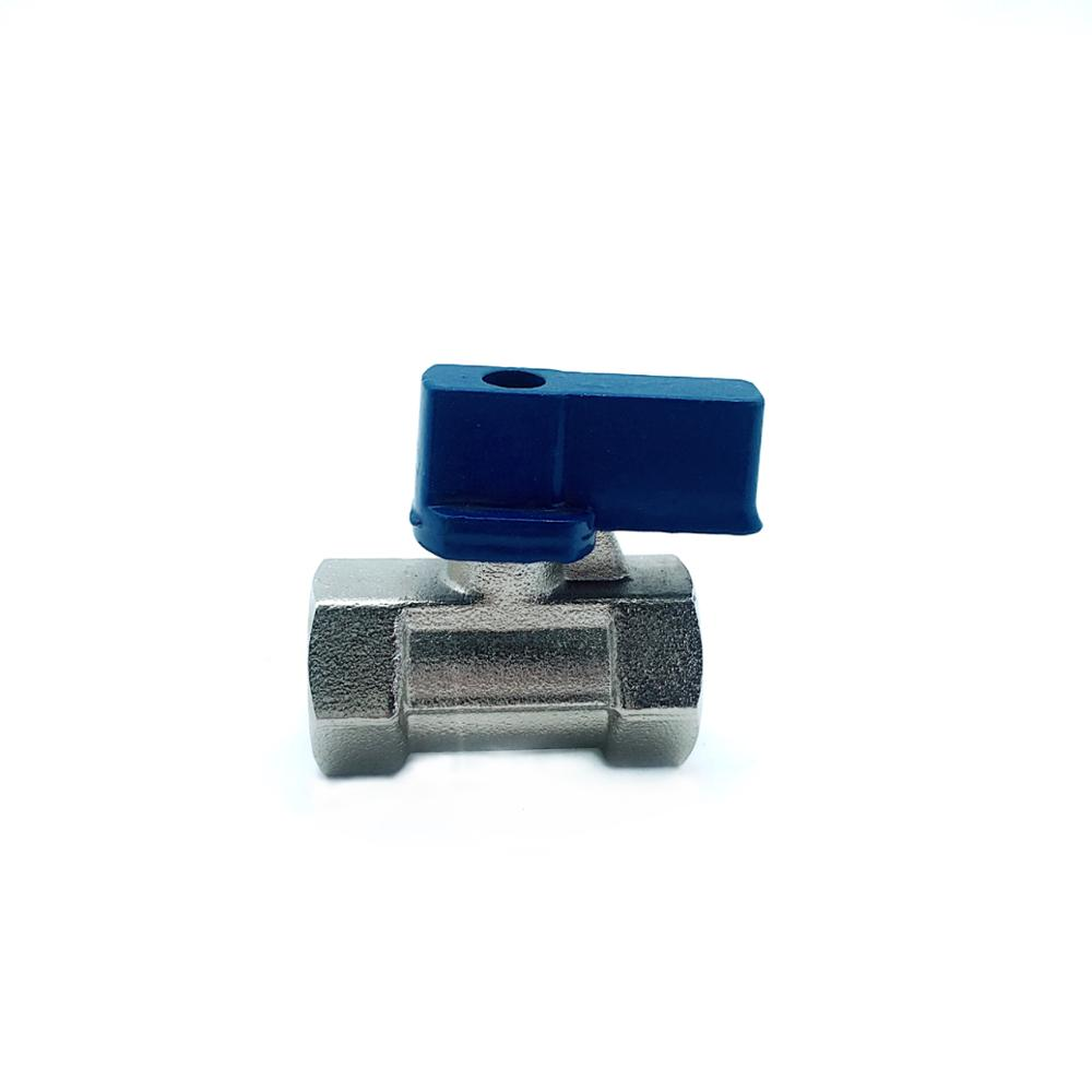 brass valve 1/2 inch Nickel Plated Male to Female Thread Brass mini Ball Valve
