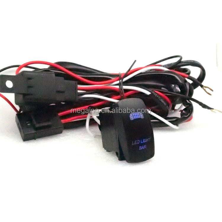 2WAY 40A 12V Power Switch Wiring Harness Relay Kit For LED Work Light Bar