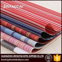 restaurant manufacter silicone printed recycled wooden beaded placemats