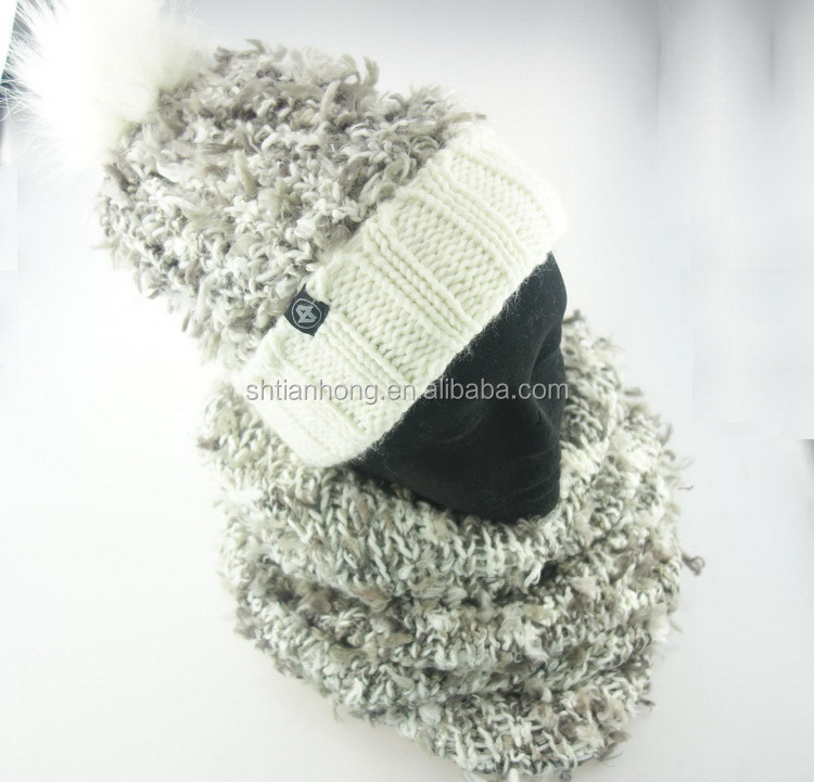 Eco-friendly cost price knit scarf gloves hat