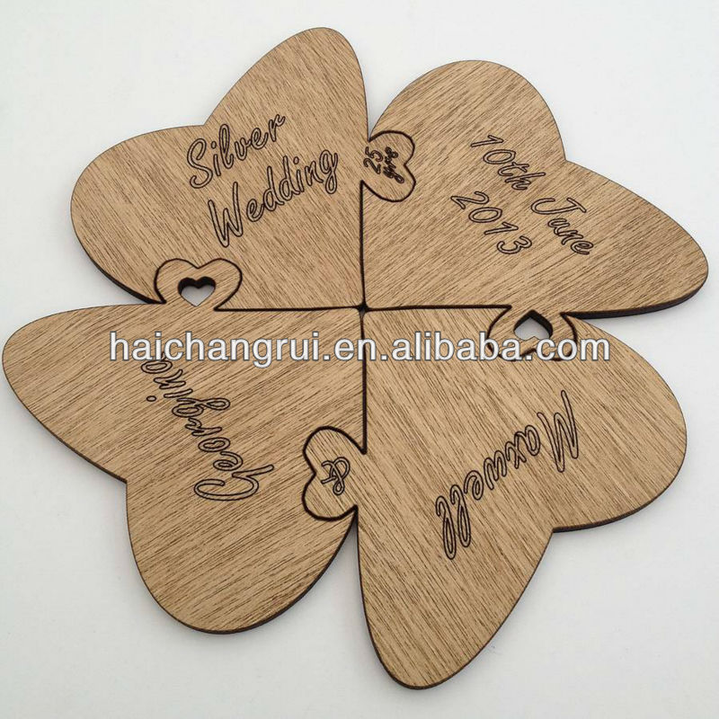 Rustic Unfinished Wood Shape Laser Cutting Wooden gifts
