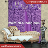 Latest Design Fabric Manufacturer jacquard Printed damask curtain fabrics