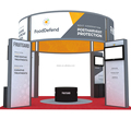 Detian Offer 4 sides open exhibition booth design portable expo stand for trade show