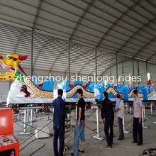 sliding dragon train ! Kids amusement park roller coaster game track dragon sliding mini roller coaster for sale