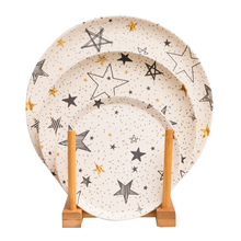 hot sell bamboo fiber round dishes and 9 inch dinner plate sets