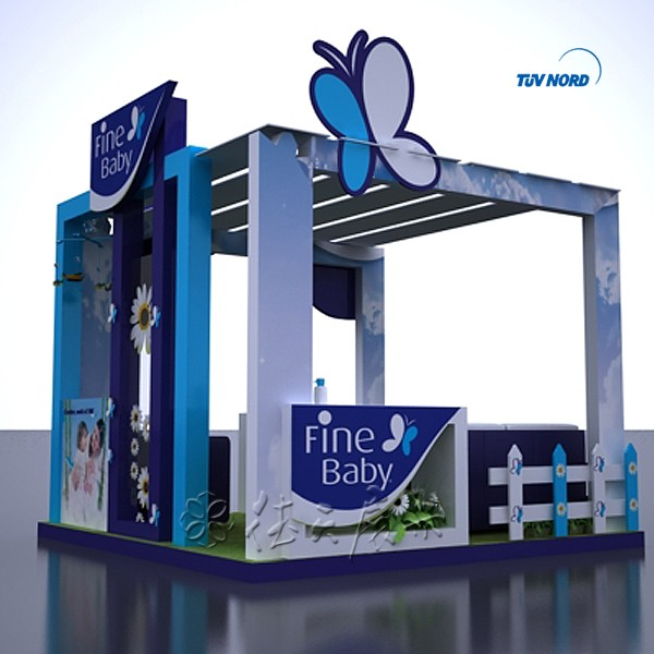 Beautiful wood baby products Custom trade show booth , used portable spray booth for sale , prefab outdoor kiosk booth