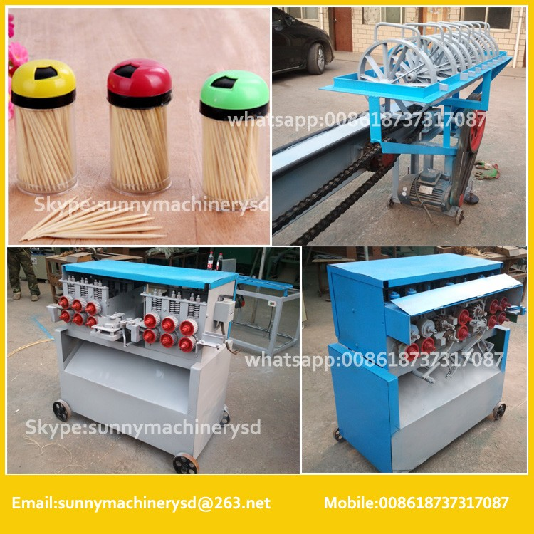 to make different size bamboo bbq stick machine