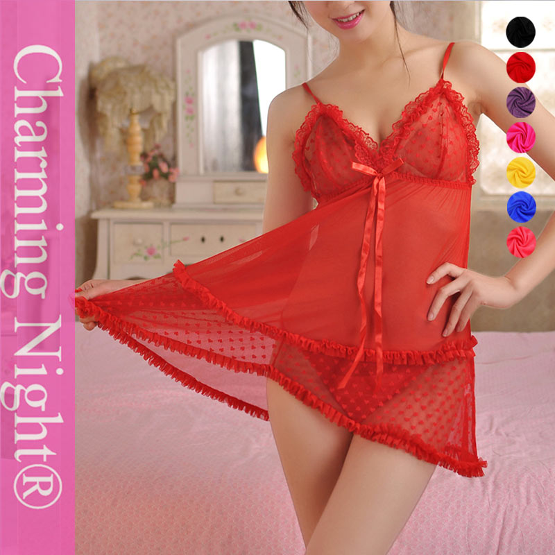 Charming night chiffon valentine's lingerie sex xxl pictures