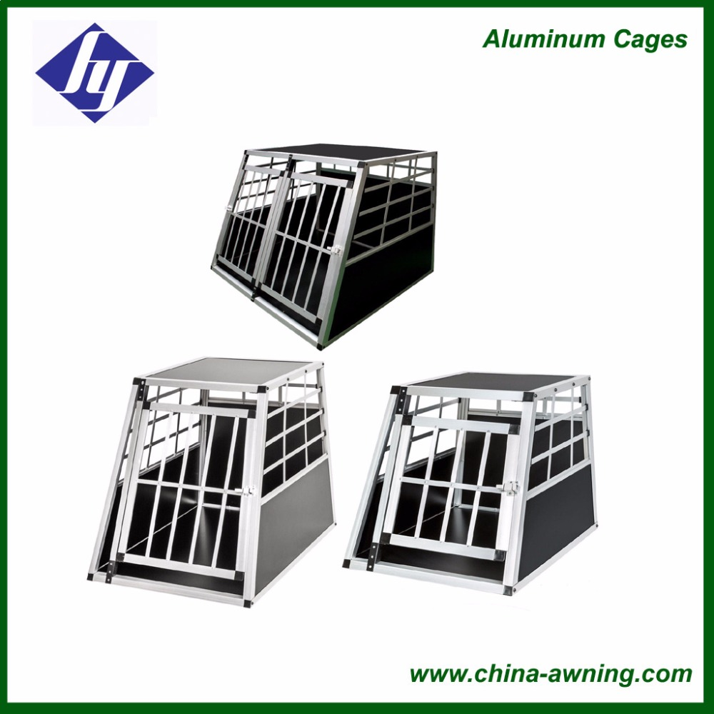 Deluxe aluminum dog cage for car
