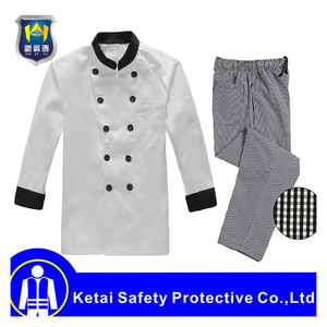 White Long Sleeves Designer Chef Uniforms wholesale Chef Coat