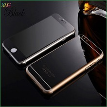 fast delivery gold mirror effect tempered glass 4.7 inch mobile phone screen protector