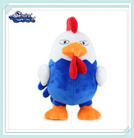 cartoon colorful cheap rooster plush toys chicken year mascot for sale