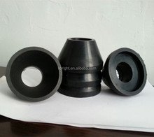 Rubber sealing element, rubber packing for polished rod