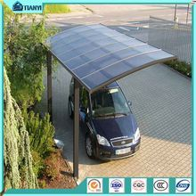 China cheap price outdoor double carport with arched polycarbonate roofing aluminum lowes used carport for sale