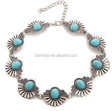 Hot Seller Bib Turquoise Choker Necklace