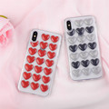 High quality glitter crystal 3d full coverage tpu mobile case cover for iphone