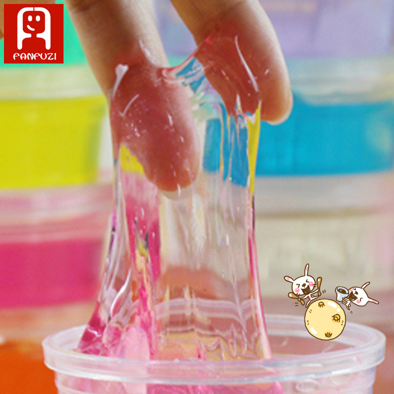 factory price Transparent crystal clay silly putty slime for children toys